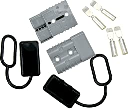 STARSIDE Battery Quick Connector Kit 175A 1/0AWG Plug Connect Disconnect Winch Trailer Grey with Waterproof Cap