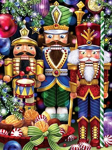 Three Nutcrackers Christmas Jigsaw Puzzle 550 Piece product image
