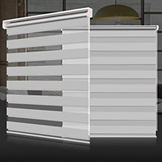 SEEYE Zebra Shade Blinds Horizontal Window Curtain Day and Night Blind Dual Layer Shades Easy to Install 41.3