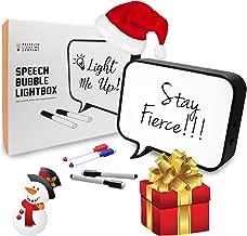 Cinematic Light Box, LED Light Box, Cinema Light Box, Letter Light Box, Speech Bubble Light Box with 4 Dry Erase Markers, LED Light and USB Cable
