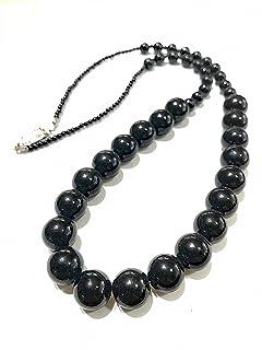 【ネックレス】【完成品】パール ネックレス 黒 ブラック