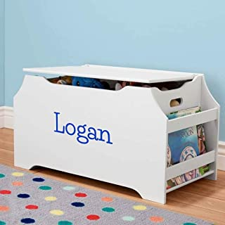 DIBSIES Personalization Station Personalized Dibsies Kids Toy Box with Book Storage - Boys (White)