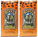 Raven's Brew Coffee Whole Bean Three Peckered Billy Goat – Dark Roast – Breakfast Coffee Bliss with an Instant Caffeine Supercharge – Delicious as Espresso – 2-pack of 12oz Bags