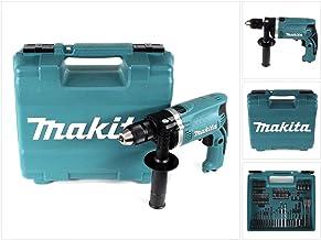 MAKITA HP1631KX3 Taladro percutor 710w 13mm automático promo acc, 710 W, 230 V