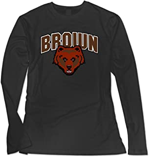 Women's Brown University Casual Long Sleeve Tshirt Black