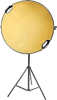 Selens Fotoreflektor Ständer Set, 109,2 cm, 5 in 1 Reflektoren mit 198,1 cm Lichtstativ und ausziehbarem Halterarm für Fotostudio Beleuchtung