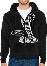 Ford Mustang Cobra Logo Men's Zipper Hoodies Sweatshirt Long Sleeve Pocket Hooded Jacket