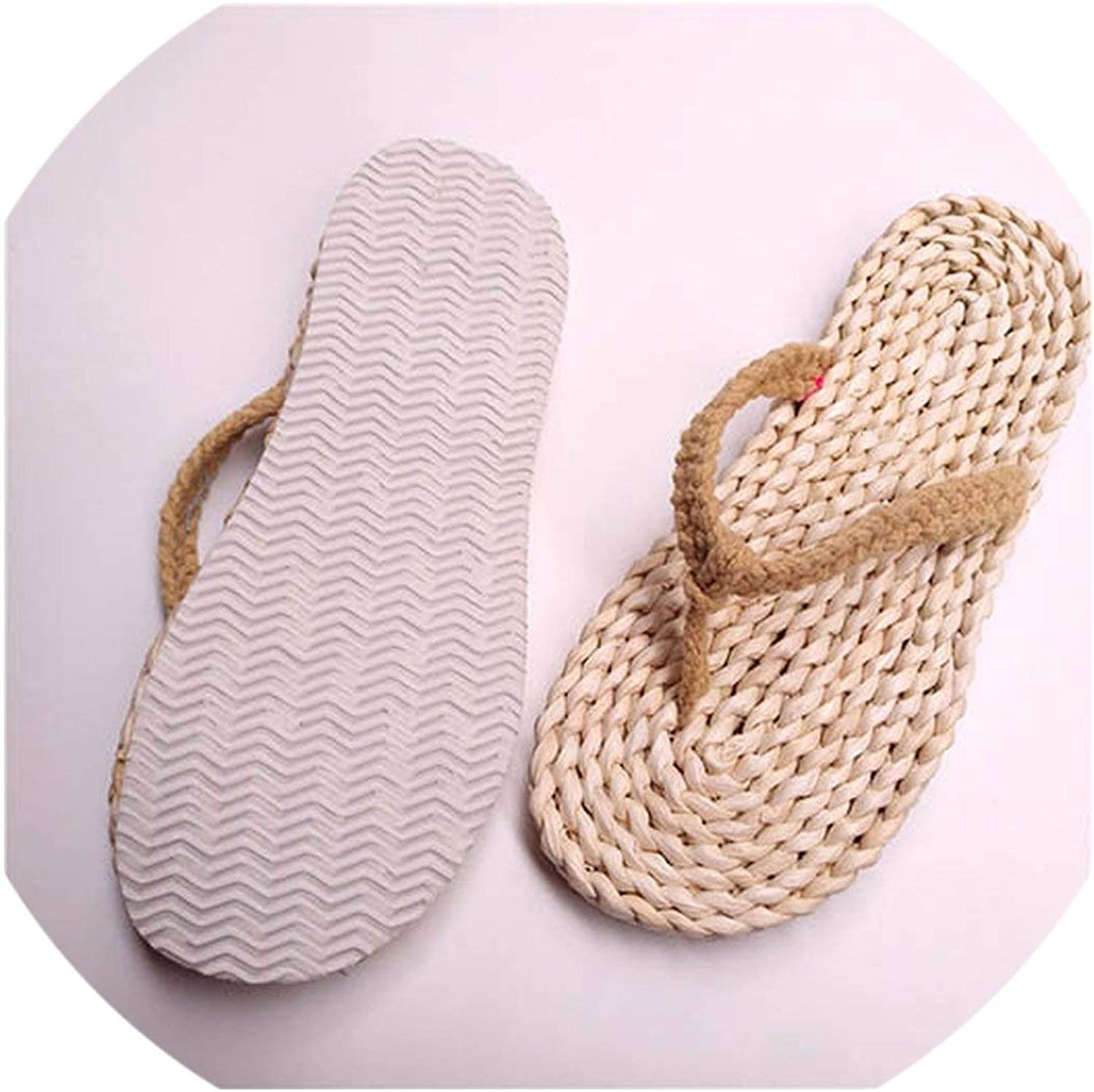 April With You Indoor House Sandals Floor Wide fit shoes Ladies Straw Home Slides Footwear