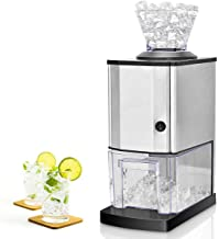 Costzon Electric Ice Crusher, Stainless Steel Ice Shaved Machine w/Large Ice Container,..