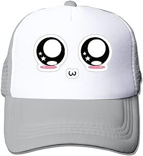 Cute Kawaii Face Adjustable Snapback Mesh Hat Unisex