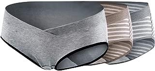 Surfiiy Mutande Premaman 2 Pezzi Intima Vita Bassa Prenatale Stampa Comode Mutande Underwear Traspirante Elasticit/à Antirollio maternit/à Pantaloni Slip Panties X-L2