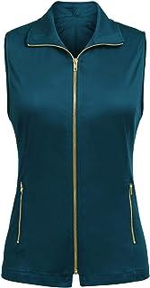 Pinspark Women Casual Lightweight Soft Full-Zip Vest Military Sleeveless Jacket