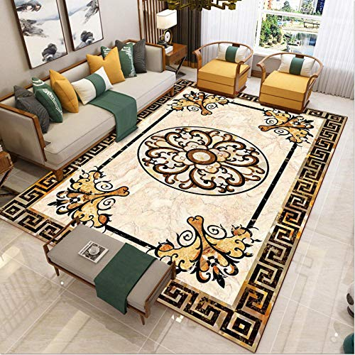 area Rugs Living Room Decorative carpet - Sofa and carpet quality printing exquisite leisure classical carved country anti-fading-120x160cm