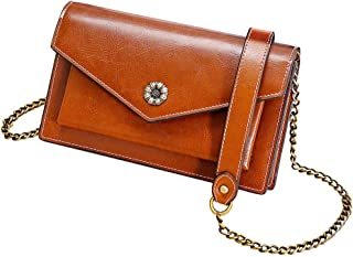 Women Genuine Leather Crossbody Bags Small Shoulder Bag for Girl Lady