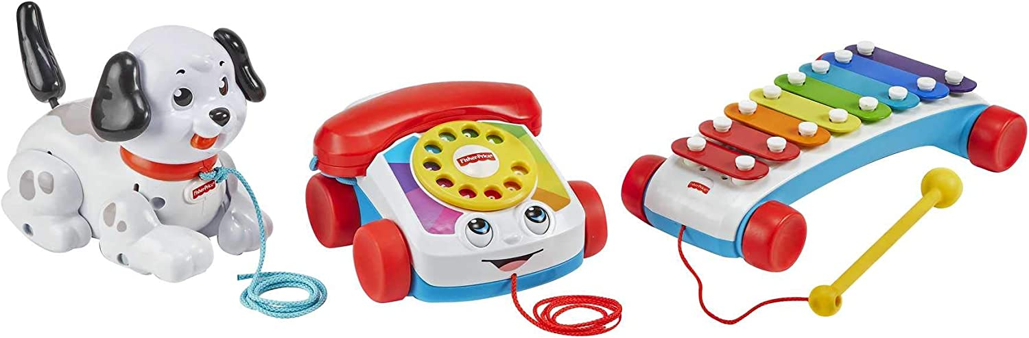 Fisher-Price Pull-Along Basics Gift Set Popular overseas 3 pull for Year-end annual account classic toys