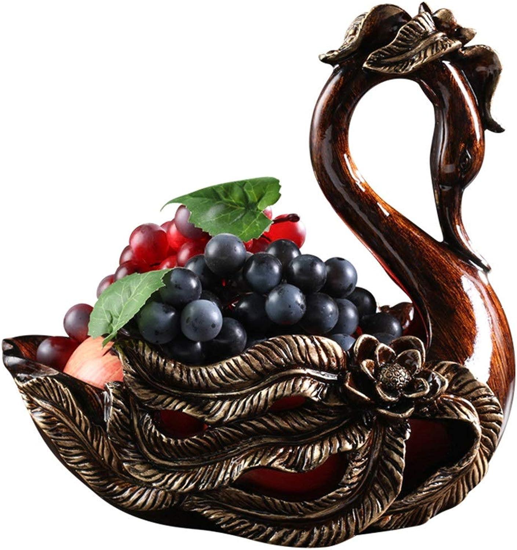 Heure de meipa Bol de Fruits européen Salon de Grand Bol de Fruits Maison créative Table de café américaine rétro Bol de Fruits Décoration Belle