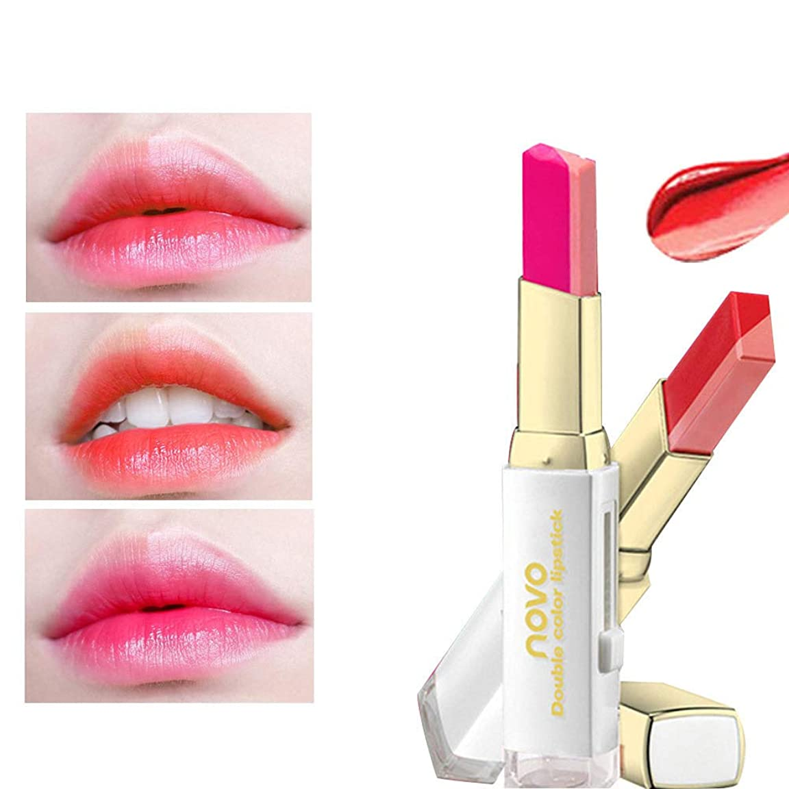 口紅 リップティント 唇のメイクをかむ 人気 3D 立体 二重色 落ない うるおい 3色選択可能 (1本, 01#ピンク)