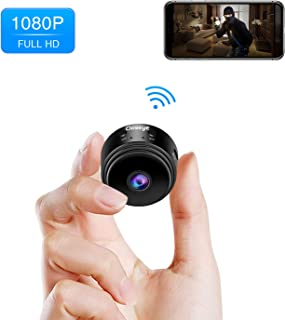 Hidden Camera Mini Spy Camera, Mooncity Full HD 1080P Wireless WiFi Spy Cam/Small Indoor Home Security Camera/Nanny Camera with Night Vision and Motion Detection-Black