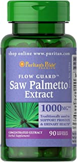 Puritans Pride Saw Palmetto 1000 Mg, 90 Count - Packaging may vary