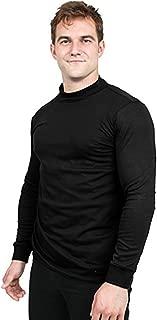 Utopia Wear Premium Cotton Interlock Mock Turtleneck Men T-Shirt