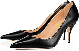Women Classic Kitten Heels Pointy Toe Pumps Office Ladies...