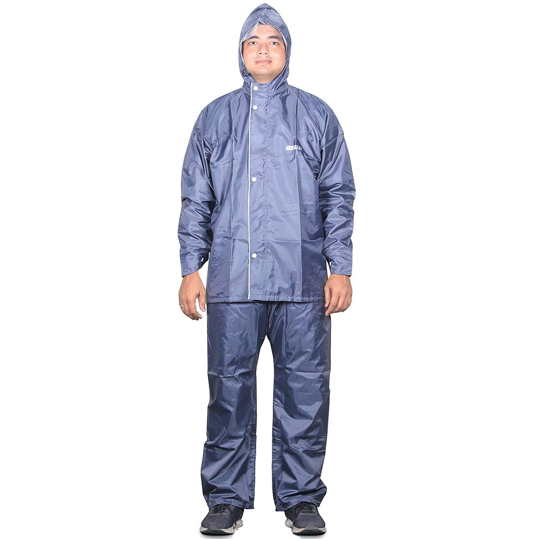 THE CLOWNFISH Rain Coat for Men Waterproof for Bike Reversible Double Layer with Hood Raincoat for Men. Set of Top...