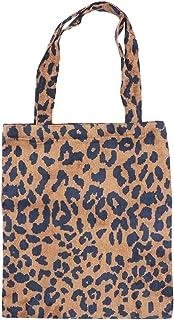 Fenical Leopard Umhängetasche Handtasche aus Cordstoff Shopping Outdoor