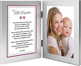 Daughter Gift from Mom to My Daughter Poem Praising Her for Being a Good Mother - Add Photo to Frame