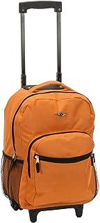 Rockland Luggage 17 Inch Rolling Backpack, Orange