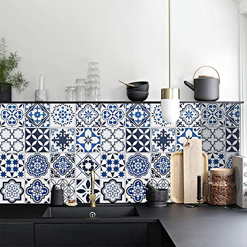 Thicken Blue Wallpaper Peel and Stick Wallpaper Glossy Contact Paper Waterproof Self Adhesive Removable Wallpaper Stick and Peel Wallpaper Vinyl Film Roll for Kitchen Shelf Drawers Liner 17.7'x78.7'