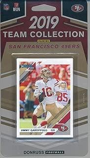 2019 Donruss Football Factory Sealed San Francisco 49ers Team Set of 12 Cards: Tevin Coleman(#20 ), Jimmy Garoppolo(#219 ), Nick Mullens(#220 ), Matt Breida(#221 ), DeForest Buckner(#222 ), Fred Warner(#223 ), George Kittle(#224 ), Dante Pettis(#225 ), Joe Montana(#226 ), Deebo Samuel(#317 ), Nick Bosa(#318 ), Jalen Hurd(#341 )