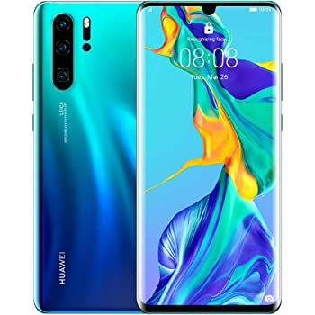 Huawei P30 Pro 128GB+8GB RAM (VOG-L29) 40MP LTE Factory Unlocked GSM Smartphone (International Version, No Warranty in the US) (Aurora)