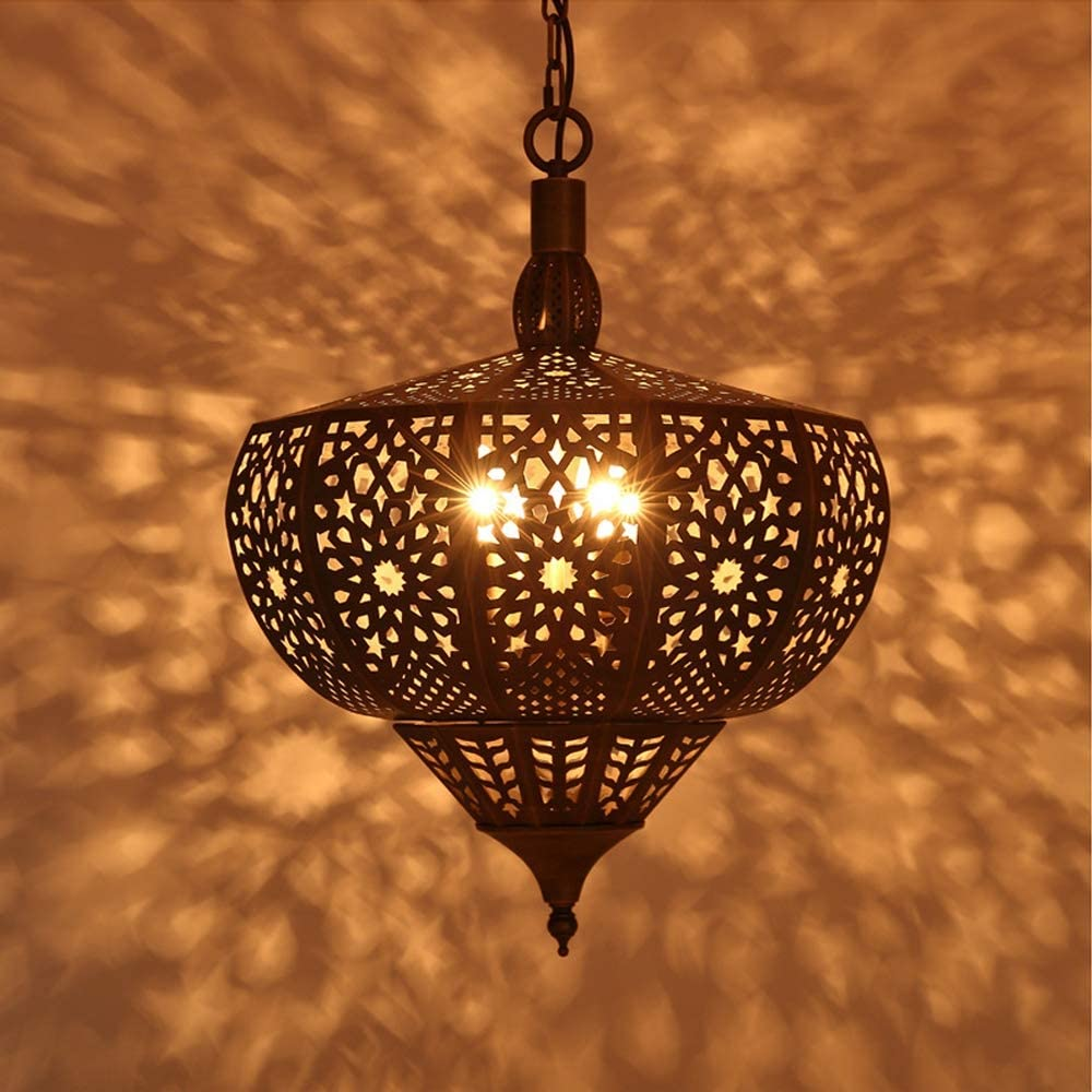 Moroccan Chandelier Ceiling Light Shade Corridor Living Room Oriental Traditional Art Ottoman Style Copper Lamp As A Home Lighting Decoration For The Party L Amazon Co Uk Kitchen Home