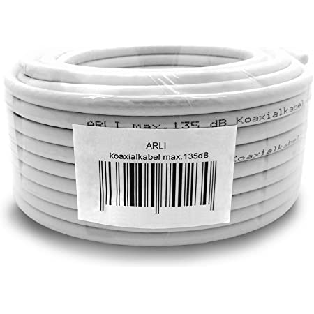 50m 135db Sat Koaxialkabel Koax Kabel Antennenkabel 4k Elektronik