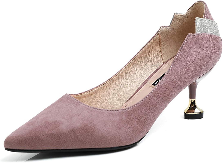 LBTSQ-Hochhackigen Schuhe Fein Hacken Vorrichtungen Vorrichtungen Vorrichtungen Anstrich Spitzen-Nahen Heels 5Cm Katze und Einzelne Schuhe.  8eed0f