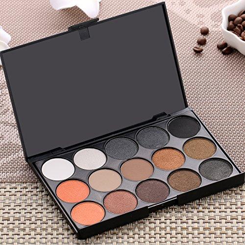 15colores maquillaje Warm Beige Color Gris mate paleta de sombra de ojos sombra de ojos polvo Kit