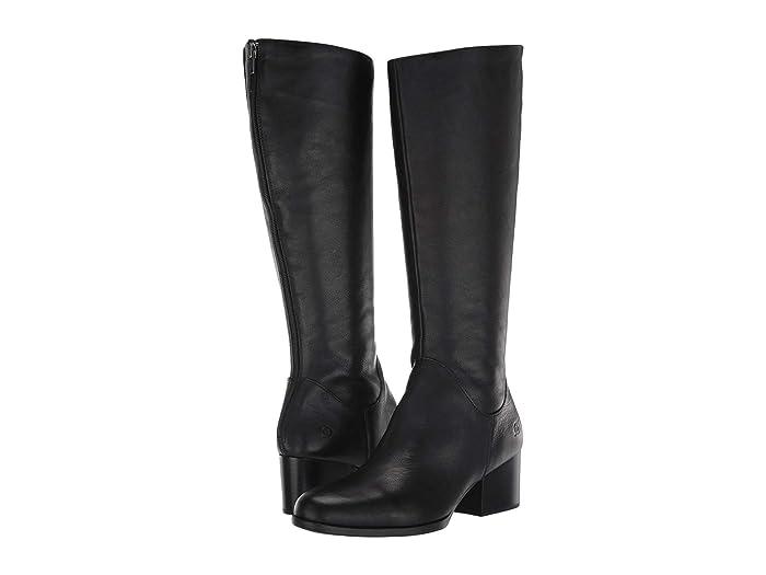Born  Audriana (Black Full Grain Leather) Womens  Boots