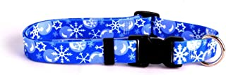 "Yellow Dog Design Winter Wonderland Dog Collar with Tag-A-Long ID Tag System-Small-3/4"" Neck 10 to 14"""