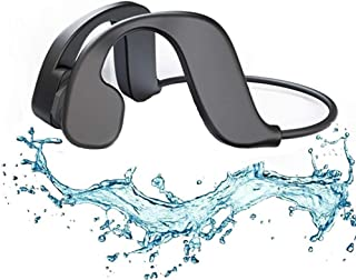 The New MP3 Music Headphones For Swimming,Built-in 32GB Storage,IPX8 Waterproof Bone Conduction Bluetooth Headset Sports W...