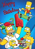 The Simpsons Blue Backdrops Cartoon Funny Famliy Baby Shower Kids Birthday Party Photography Background Newborn Photo Studio Booth 5x7ft