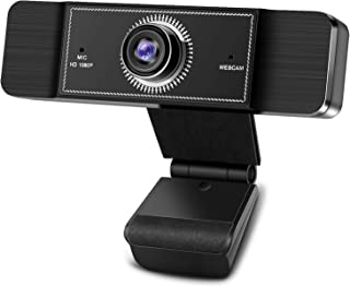Webcam with Microphone, 1080P HD Webcam Streaming Computer Web Camera with 95-Degree Wide View Angle, USB Plug and Play We...