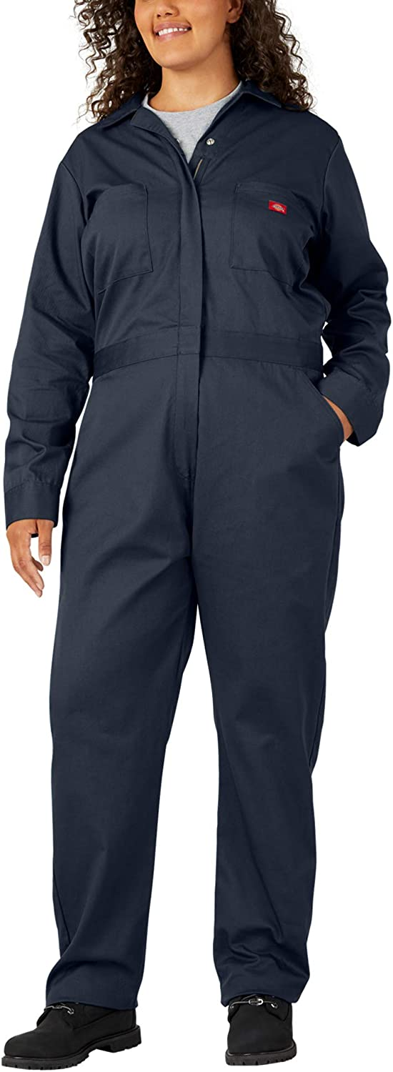 Dickies Women's Be super welcome Weekly update Plus Size Long Coverall Dark 2PS Sleeve Navy