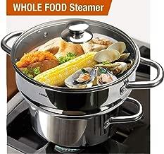 HOMICHEF 3 PCS Whole Food Steamer Set - Nickel Free Stainless Steel Veggie Steamer Pot (9.5