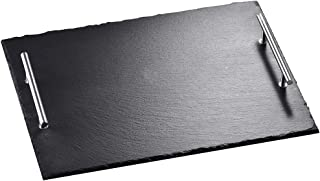 Malacasa Slate Cheese Plates, Rectangular Tray with Handles Placemats Sushi Serving Tray, 15.7 x 11.8 inches