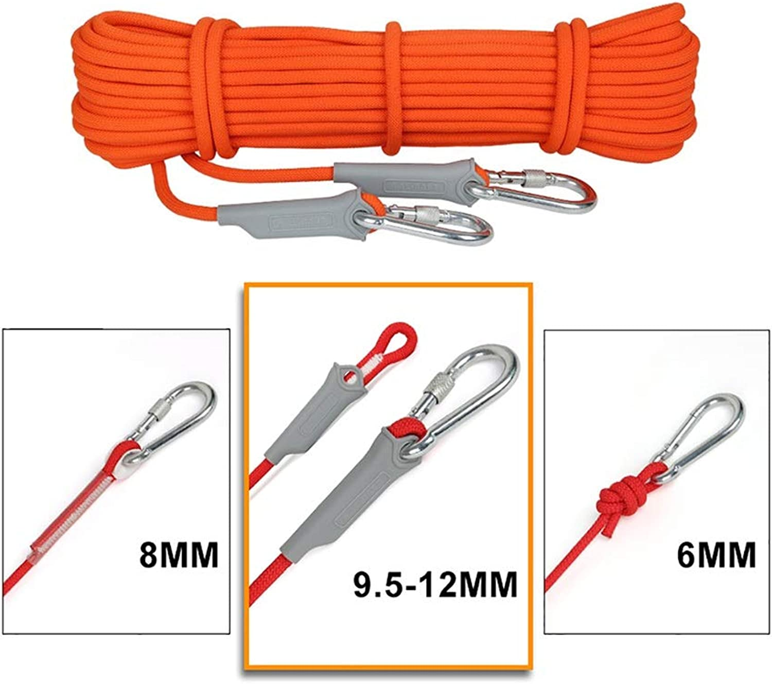Mountaineering Rope 6MM 8MM 9.5MM 12MM (color Please email Description)
