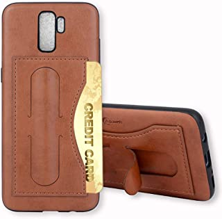 Galaxy S9 Plus Case,Phone Cases Wallet Leather with Credit Card Holder Slot Kickstand Stand Heavy Duty Hard Shockproof Protective Cover for Samsung S9plus S 9 9S GS9 9plus Women Girls Men Brown