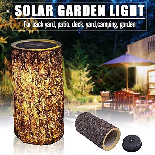 Luz solar al aire libre impermeable paisaje lámpara de jardín columna luces jardín patio camino decoración al aire libre luces solares tocón luz zhhhx