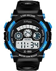 子供用腕時計 腕時計 キッズ 防水 めざまし時計 デジタル アラーム ledライト付き 時報 多機能 スポーツ腕時計 女の子 男の子 日本語説明書付き
