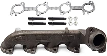 ECCPP Driver Left Side Exhaust Manifold Kit for 2000-2015 Ford E-350 Super Duty 2003-2014 Ford E-150 E-250 5.4L Driver Side