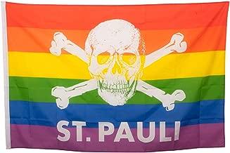 St. Pauli - Regenboog doodskop, vlag
